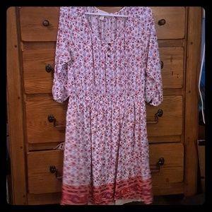 Sweet Bohemian Button Dress